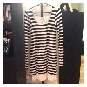 Bailey 44 black and white striped dress